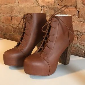 H&M Lace Up Ankle Booties